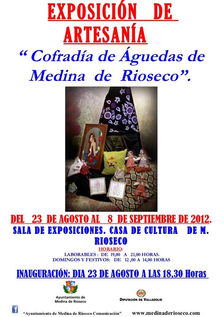 Exposición de artesanía Cofradía de Aguedas de Medina  de  Rioseco Ocio y Rutas Valladolid