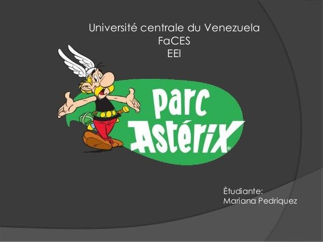 Université centrale du Venezuela              FaCES                EEI                         Ètudiante:                 ...