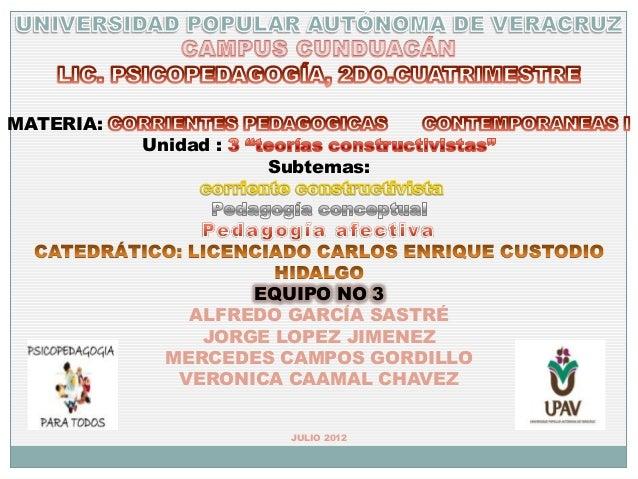 MATERIA:           Unidad :                      Subtemas:                    EQUIPO NO 3               ALFREDO GARCÍA SAS...