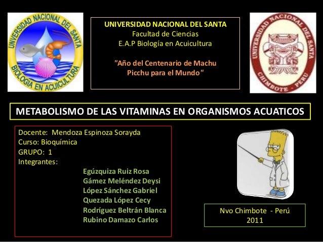 UNIVERSIDAD NACIONAL DEL SANTA                               Facultad de Ciencias                           E.A.P Biología...