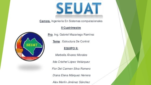 Carrera. Ingeniería En Sistemas computacionales II Cuatrimestre Pro. Ing. Gabriel Mazariego Ramírez Tema : Estructura De C...