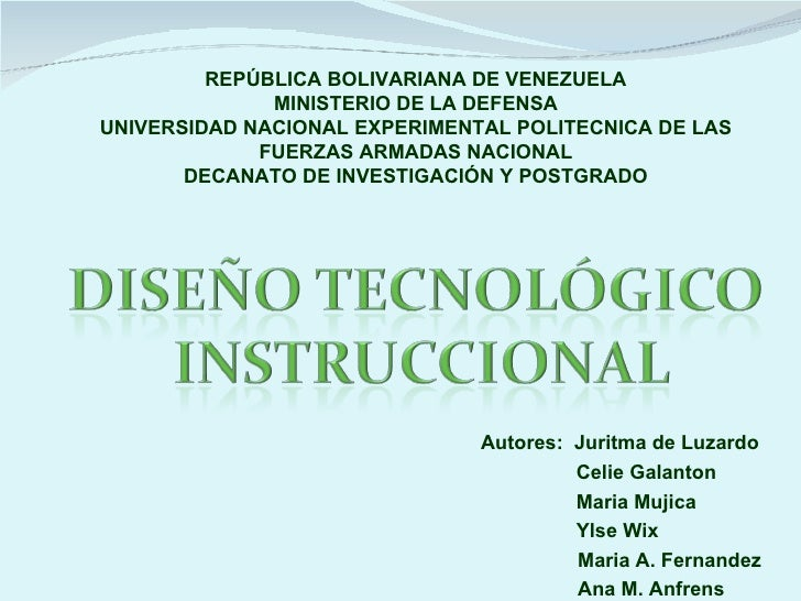 REPÚBLICA BOLIVARIANA DE VENEZUELA              MINISTERIO DE LA DEFENSAUNIVERSIDAD NACIONAL EXPERIMENTAL POLITECNICA DE L...