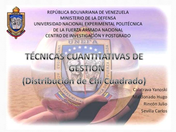 REPÚBLICA BOLIVARIANA DE VENEZUELA           MINISTERIO DE LA DEFENSAUNIVERSIDAD NACIONAL EXPERIMENTAL POLITÉCNICA        ...