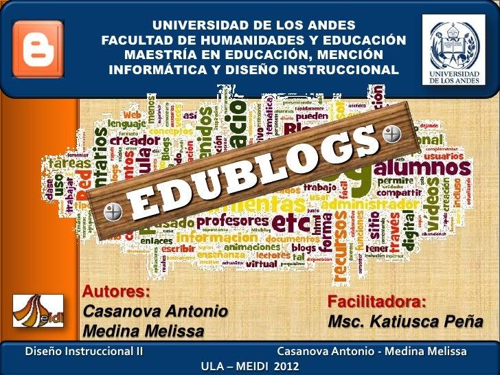 UNIVERSIDAD DE LOS ANDES              FACULTAD DE HUMANIDADES Y EDUCACIÓN                 MAESTRÍA EN EDUCACIÓN, MENCIÓN  ...