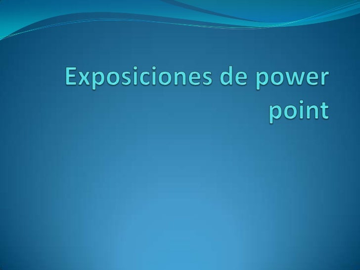 Exposiciones de power point