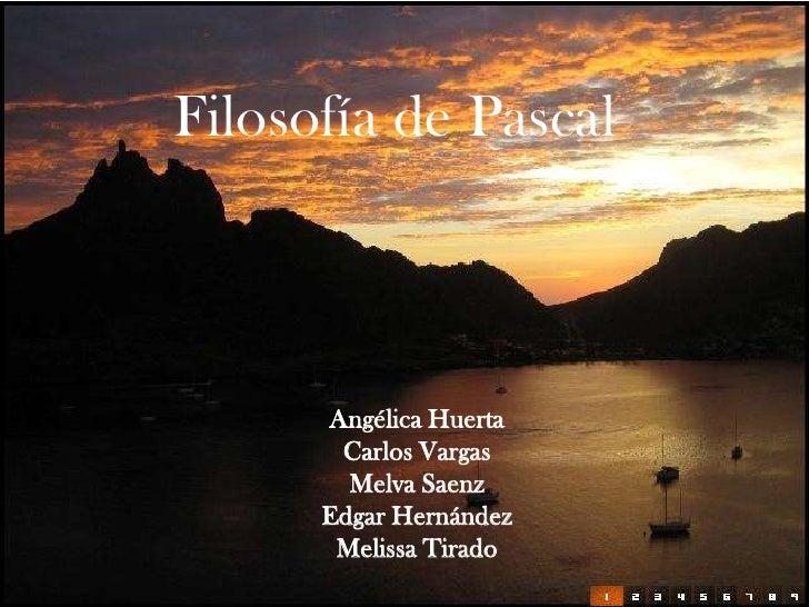 Exposicion Filosofia De Pascal
