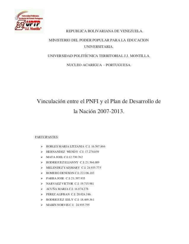 REPUBLICA BOLIVARIANA DE VENEZUELA. MINISTERIO DEL PODER POPULAR PARA LA EDUCACION UNIVERSITARIA. UNIVERSIDAD POLITÉCNICA ...