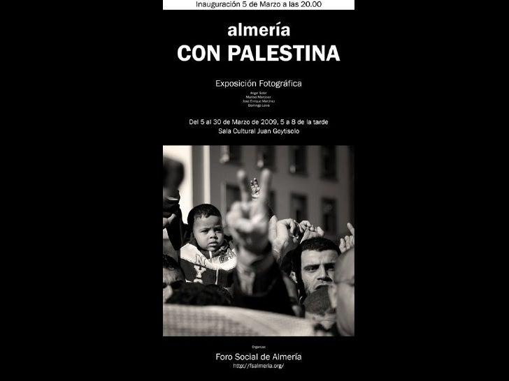 Exposicion fotografica Almería con Palestina