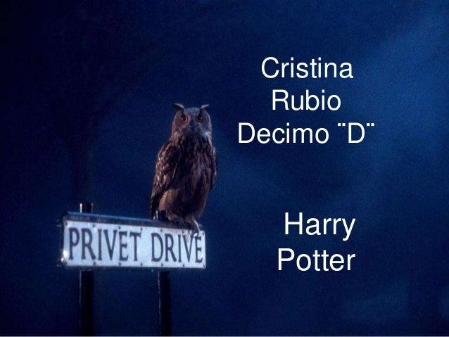 Cristina Rubio Decimo ¨D¨ Cristina Rubio Decimo ¨D¨ Harry  Potter
