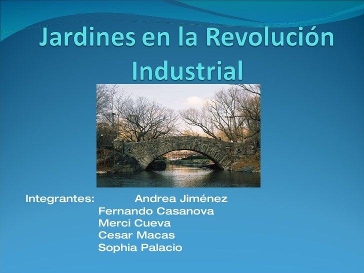 Jardines en la Revolucion industrial