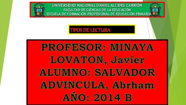 UNIVERSIDAD NACIONAL DANIEL ALCIDES CARRIÓN  FACULTAD DE CIENCIAS DE LA EDUCACIÓN  ESCUELA DE FORMACIÓN PROFESIONAL DE EDU...