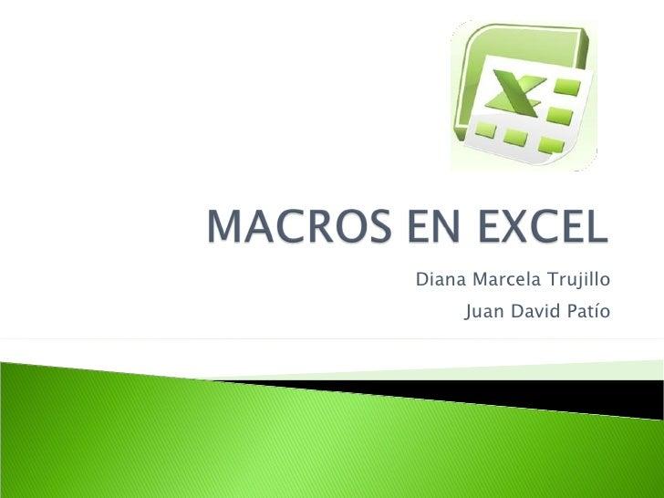 Diana Marcela Trujillo Juan David Patío