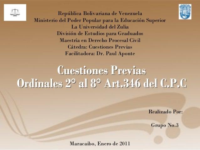 República Bolivariana de Venezuela Ministerio del Poder Popular para la Educación Superior La Universidad del Zulia Divisi...