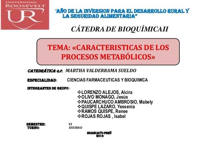 Exposicion metabolismop bioquimica