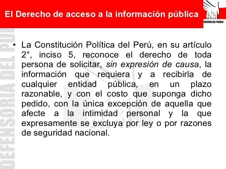 C digo de tica alcances y excepciones a la ley de for Oficina de transparencia y acceso ala informacion