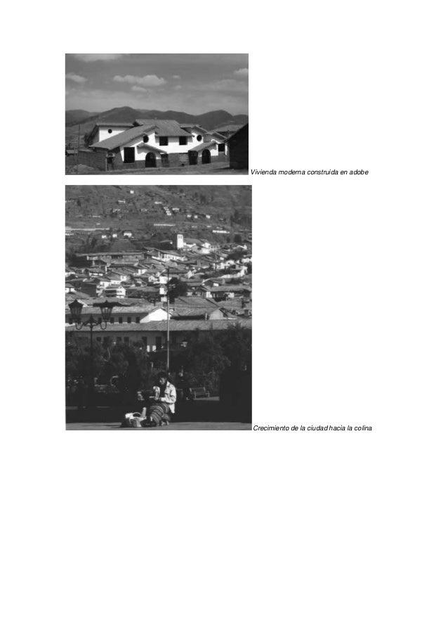Vivienda moderna construida en adobeCrecimiento de la ciudad hacia la colina