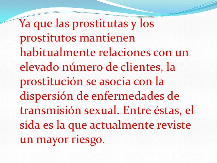 prostituirse prostitutas y enfermedades