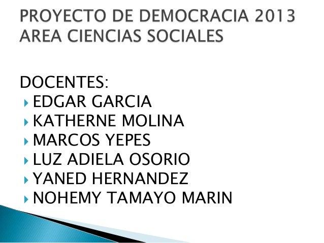 Exposicion proyecto de democracia