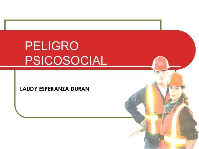 LAUDY ESPERANZA DURAN PELIGRO PSICOSOCIAL