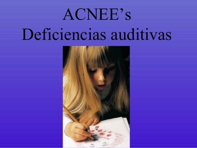 deficiencias auditivas