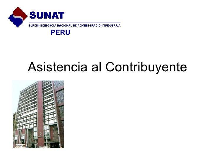 Asistencia al Contribuyente PERU
