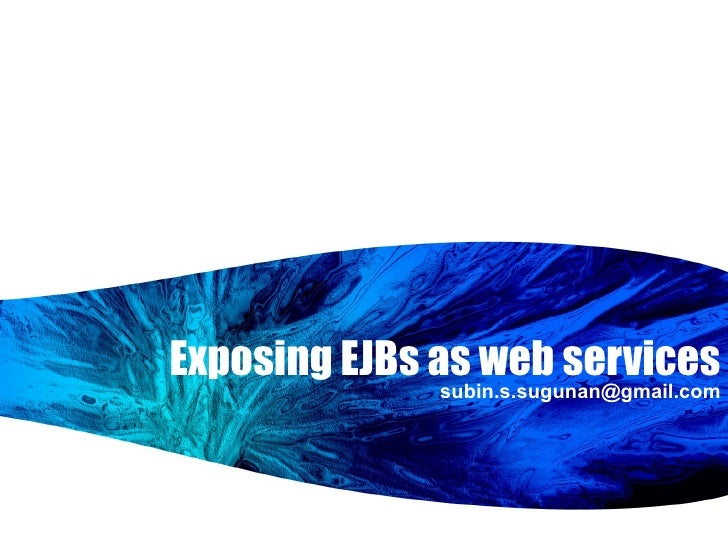 Exposing EJBs As Web Services