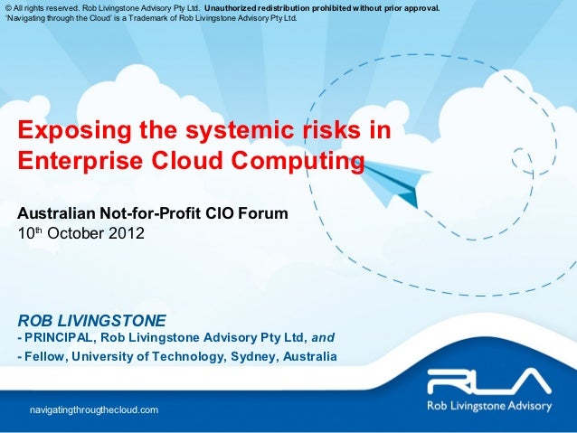 Exposing the systemic risks in enterprise cloud computing