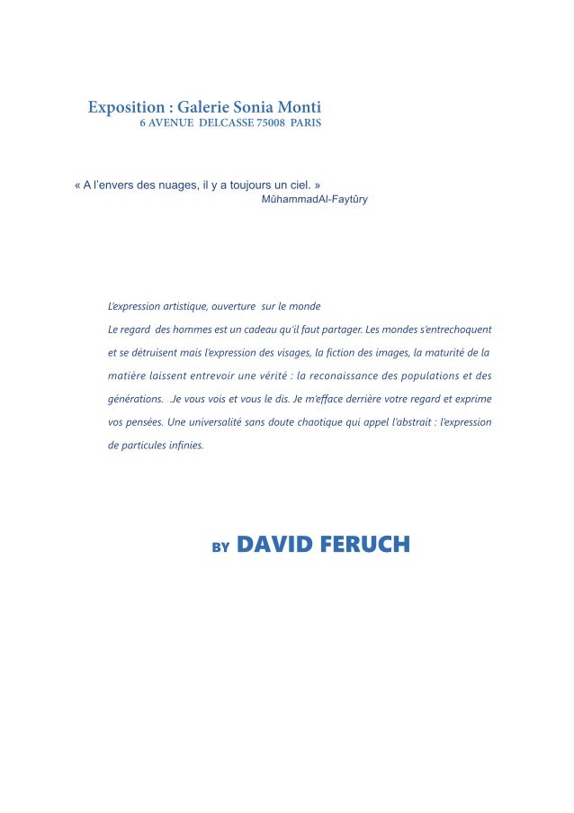 AGENT : DELPHINE DE BILLY PIERRE MOBILE : (33) 612. 436. 539 Linkedin. Twitter david.feruch@gmail.com http://www.davidferu...
