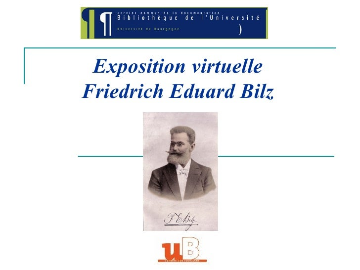 Exposition virtuelle Friedrich Eduard Bilz