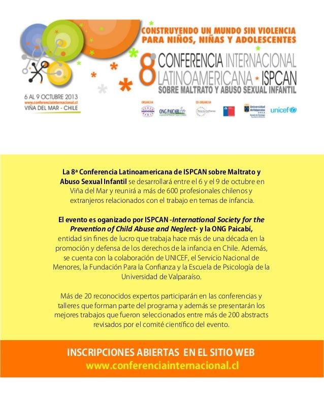 Expositores 8ª Conferencia Latinoamericana de ISPCAN-PAICABI