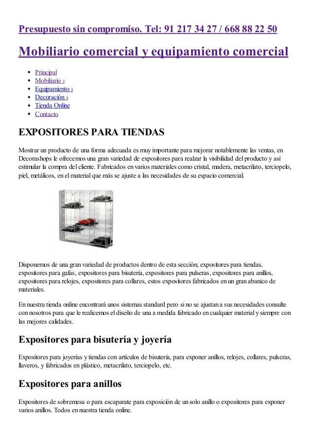 Expositores para tiendas de metacrilato cart n met licos - Expositores para bisuteria ...