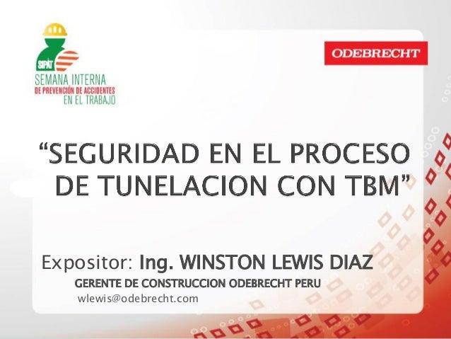 Expositor w.lewis d. seguridad en el proceso de tunelación