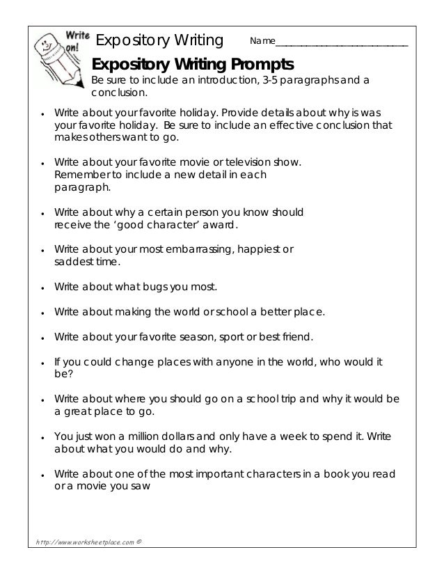2nd grade expository writing prompts Expository writing lesson plan for 1st grade lesson objectives & goals the objectives of this lesson will focus on writing short sentences to repeat or summarize important details from a text.