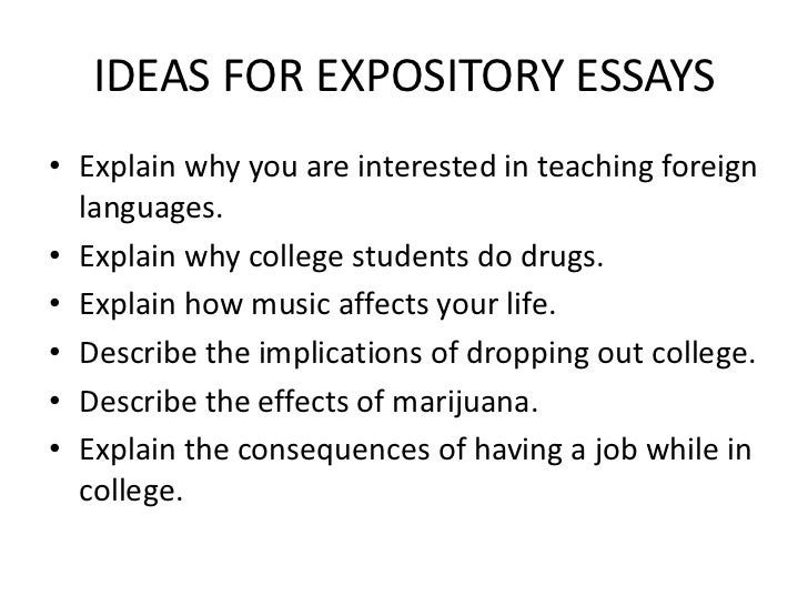 How To Start Out An Expository Essay