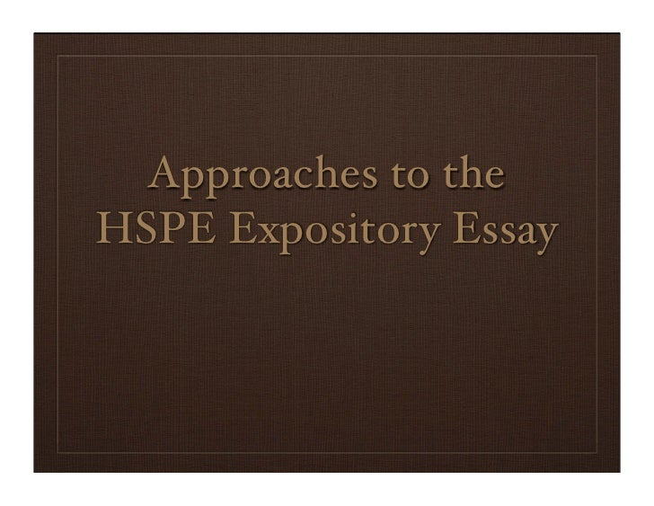 Uses of expository essay