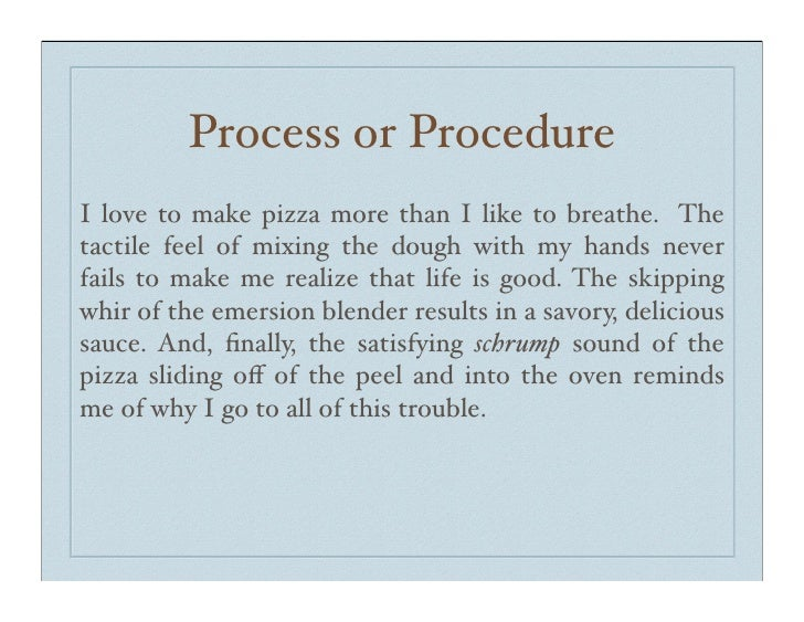 expository essay on how to make pizza You can get a custom essay on pizza topics now posted by  essay on pizza essay on edward scissorhands  narrative, cause and effect, exploratory, expository .