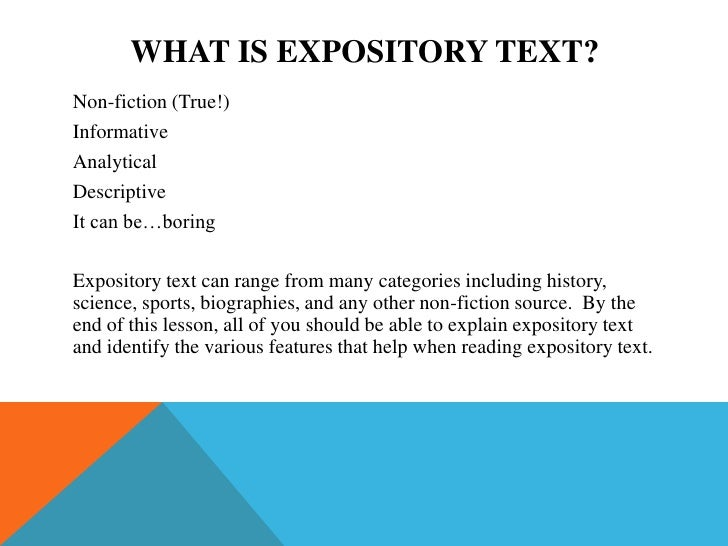 Features of expository writing
