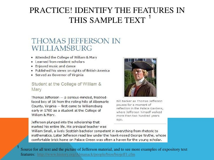 characteristics of expository text pdf