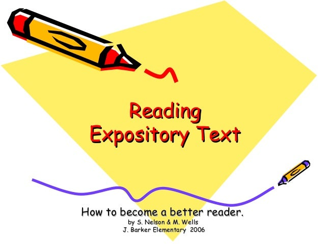 Expository text  in reading power point