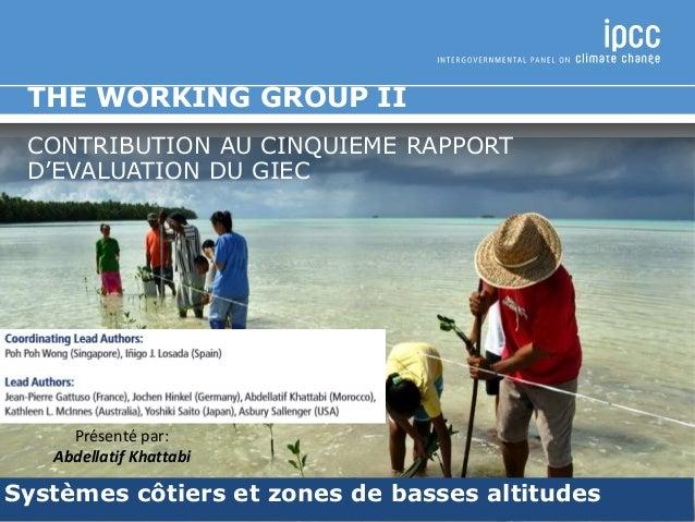Systèmes côtiers et zones de basses altitudes THE WORKING GROUP II CONTRIBUTION AU CINQUIEME RAPPORT D'EVALUATION DU GIEC ...