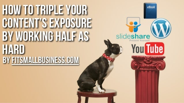How to triple your content's exposure by working half as hard by FitSmallBusiness.com
