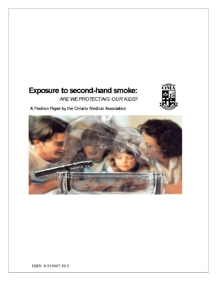 Exposure to second-hand smoke:
