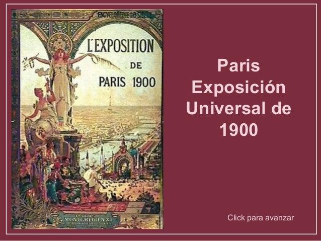ParisExposiciónUniversal de   1900    Click para avanzar