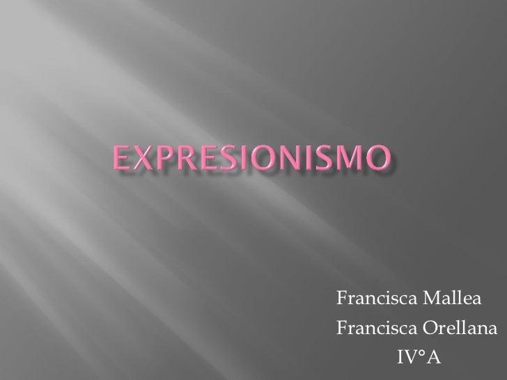 Francisca Mallea Francisca Orellana IV°A