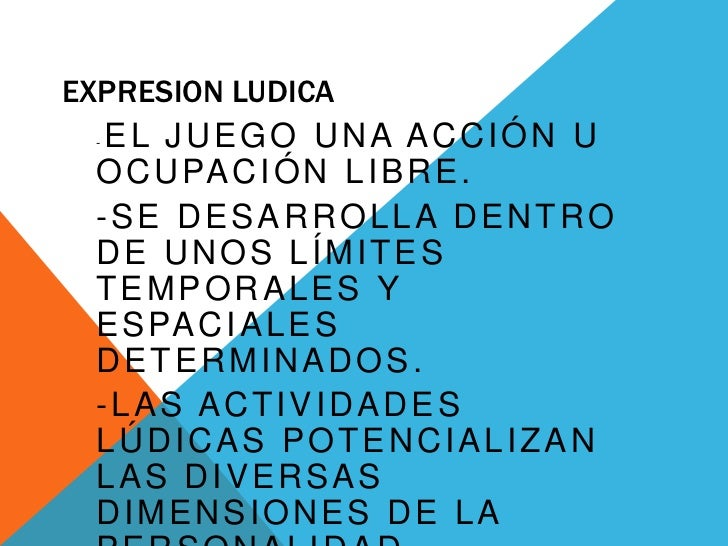 EXPRESION LUDICA