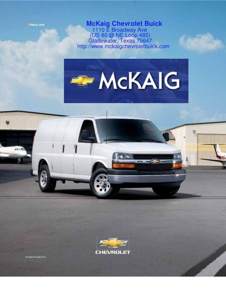 2011 Chevrolet Express Van for Sale Longview Texas - McKaig Chevrolet