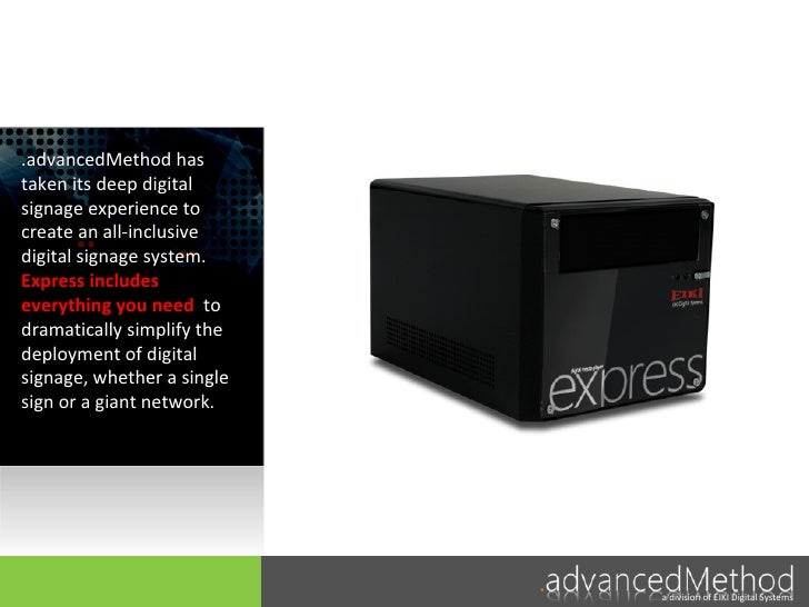 Express for Digital Signage