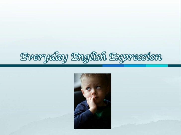 Everyday English Expression