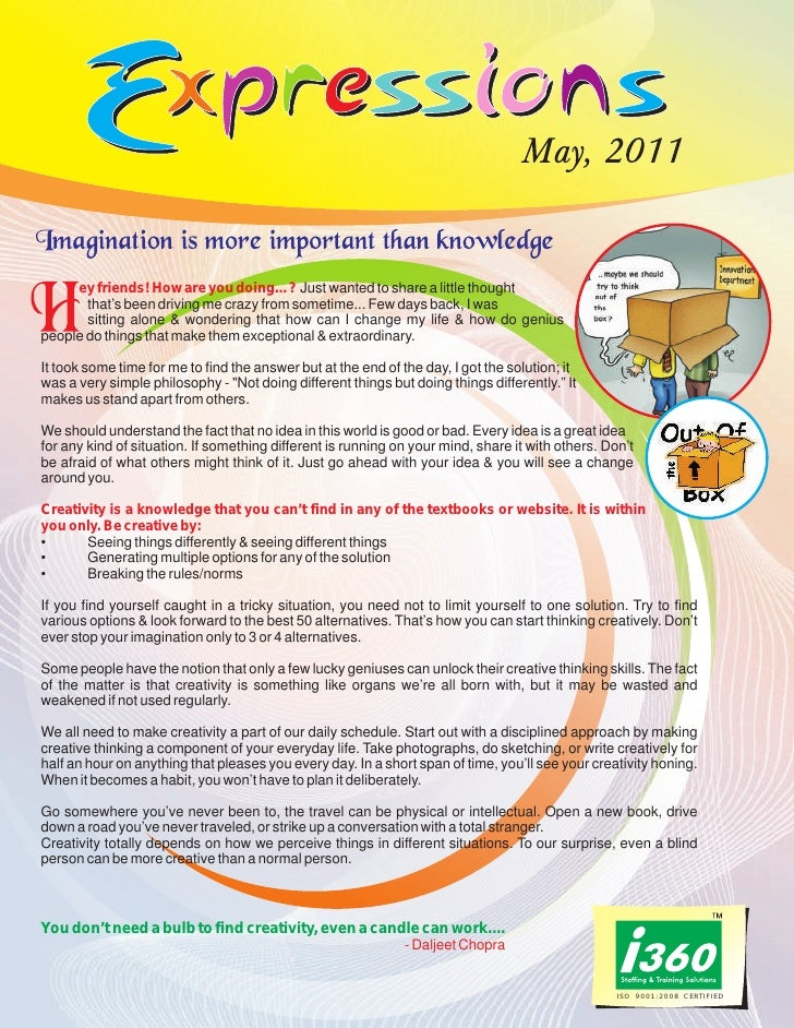 I360 Newsletter - Expressions  may 2011