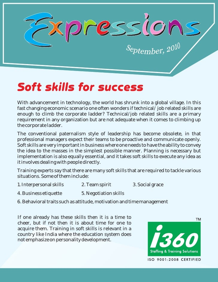 I360 Newsletter - Expressions september 2010